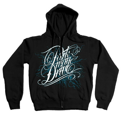 Deep Blue Zip-Up Hoodie (Black)