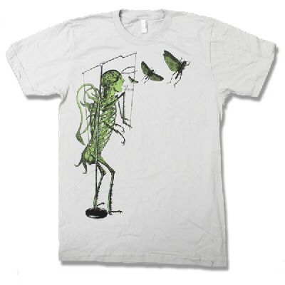 Green Locust Skeleton (Grey)