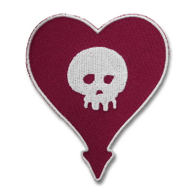 IMAGE | Embroidered Heartskull Patch
