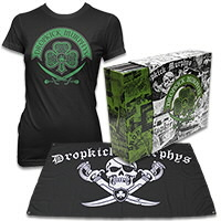 IMAGE | Dropkick Murphys - DKM Vinyl Box Set (Clear) & Celtic Swords Tee - Women's