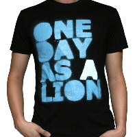 IMAGE | One Day As A Lion - Black Stacked Logo Tee