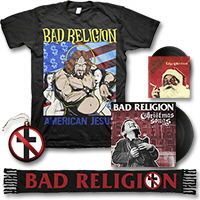 IMAGE | Bad Religion - Christmas Songs LP - (Black) & Scarf Bundle