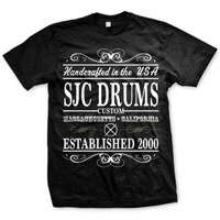 IMAGE | SJC Drums - Handcrafted Tee - Black