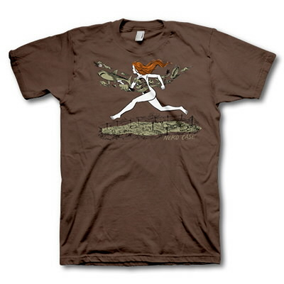 neko-case - Girl On The Run Men's Tee (Brown)