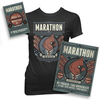IMAGE | Marathon - Ticket, Poster, and Women's Tee