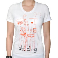 IMAGE | Dr. Dog - Objects-Womens White Shirt