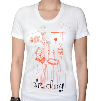 Dr. Dog - Objects-Womens White Shirt