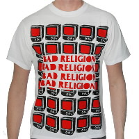 IMAGE | Bad Religion - BR Red TVs Tee (White)
