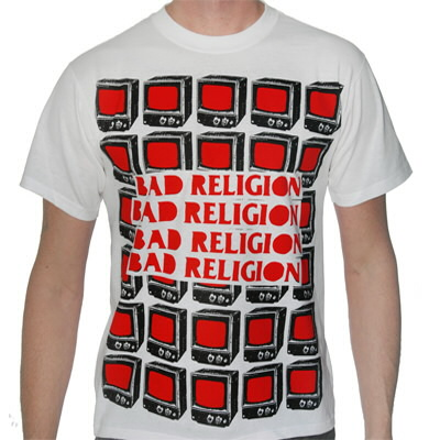 Bad Religion - BR Red TVs Tee (White)