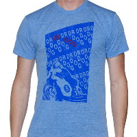 IMAGE | Dr. Dog - Racer-Blue AA TriBlend Shirt (Blue Racer)