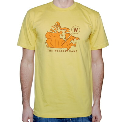 The Weakerthans - Canadian Map Tee