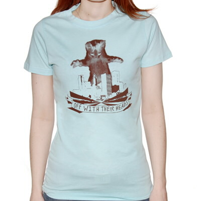 Off With Their Heads - Katzilla Womens Tee (Light Blue)