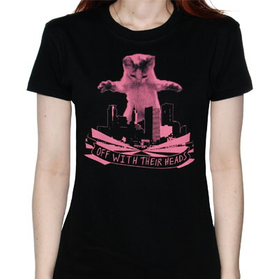Off With Their Heads - Pink Katzilla Womens Tee