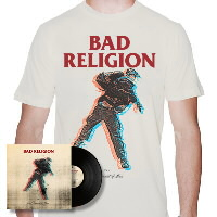 IMAGE | Bad Religion - The Dissent Of Man LP & Shirt (Natural)