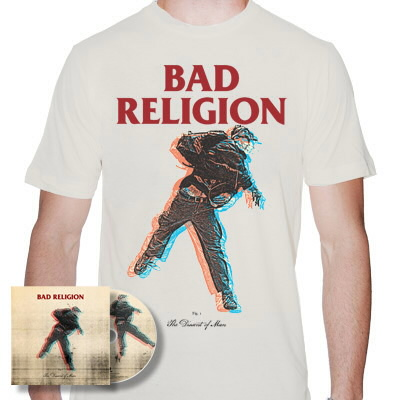 IMAGE | Bad Religion - The Dissent Of Man CD & Natural Shirt