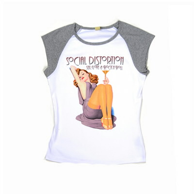 Social Distortion - Sex, Love Champagne Ladies Raglan Sleeveless Shirt