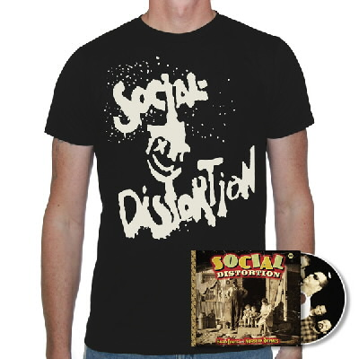 Social Distortion - Hard Times & Nursery Rhymes CD & X'd Eye Guy Shirt (Epitaph)
