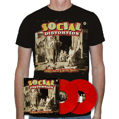 Social Distortion - Hard Times & Nursery Rhymes LP (Red) & Album Shirt