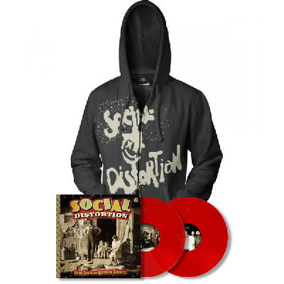 Social Distortion - Hard Times & Nursery Rhymes LP (Red) & Hoodie