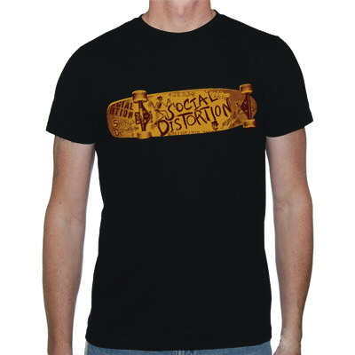 Social Distortion - Skateboard T-Shirt (Black)