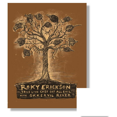 anti-records - Roky Erickson True Love Print Poster