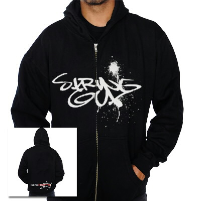strung-out - Spray Paint Zip-Up Hoodie (Black)