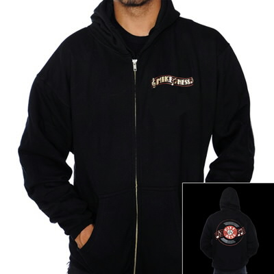 Record Zip-Up Hoodie (Black)