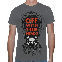 IMAGE | Off With Their Heads - Coffin Shirt (Charcoal) - Small