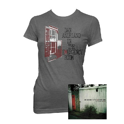 Dan Andriano In The Emergency Room - Hurricane Season CD & Womens Shirt