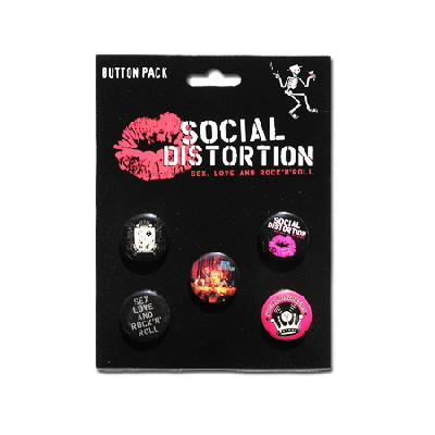 Social Distortion - Sex, Love, & Rock 'N' Roll Button Pack