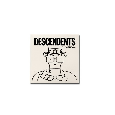 "Descendents - 'Merican Clear Sticker (5"" x 5"") - Clear"
