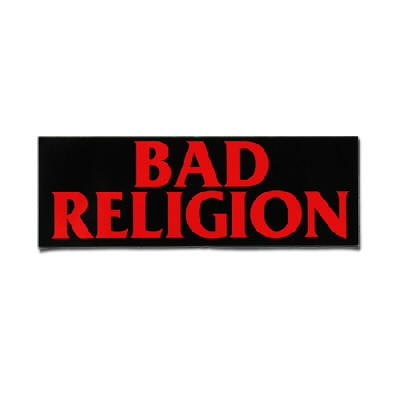 "Bad Religion - Logo Sticker (3"" x 9"")"