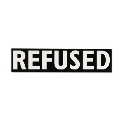 "Refused - Refused Logo Sticker (2"" x 9"")"