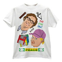 IMAGE | Tim and Eric - Peace Heads White Shirt