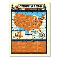 IMAGE | Chuck Ragan - 2012 Year Of The Long Haul Screenprint Calendar