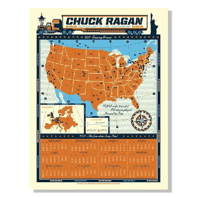 Chuck Ragan - 2012 Year Of The Long Haul Screenprint Calendar