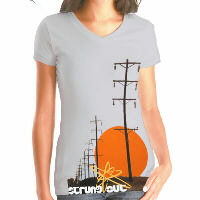IMAGE | Strung Out - Power Line Womens V-Neck