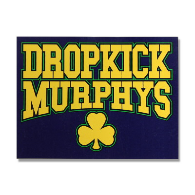 Dropkick murphys athletic letters sticker
