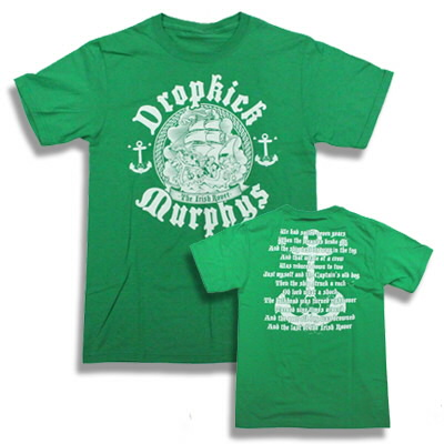 dropkick-murphys - The Irish Rover Tee (Green)