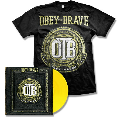 Obey The Brave - Young Blood LP (Yellow) & Crest Shirt