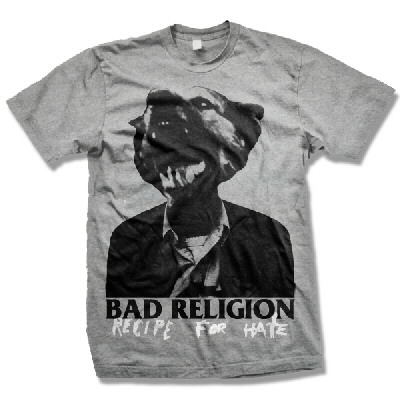 Bad Religion - BR Recipe For Hate Tee (Heather Gray)