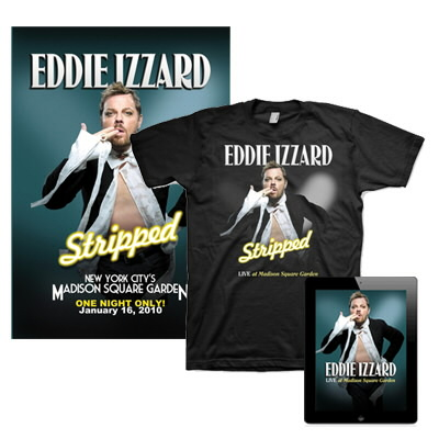 eddie-izzard - Live at Madison Square Garden Video DL, Shirt & Lithograph