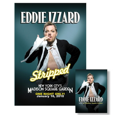 eddie-izzard - Live at Madison Square Garden DVD & Lithograph