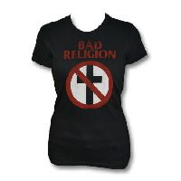 IMAGE | Bad Religion - Womens Distressed Cross Buster Shirt