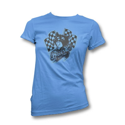 Black Kat Kustoms - Womens Racing Kat Logo (Blue)