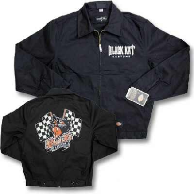 Black Kat Kustoms - Unlined Racing Kat Work Jacket - Black