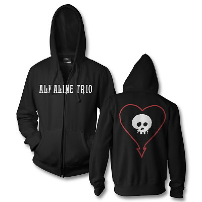 alkaline-trio - Classic Heartskull Zip-Up Hoodie (Black)