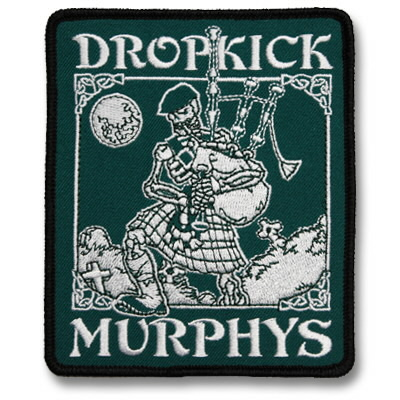 dropkick-murphys - Skeleton Piper Patch