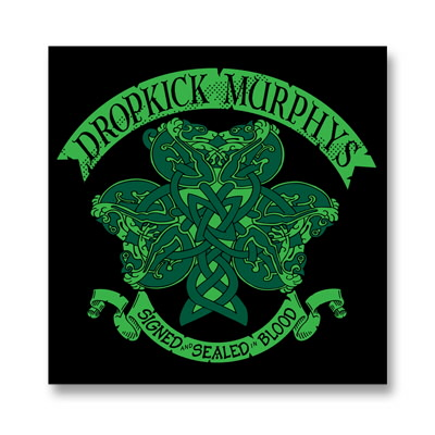 Dropkick murphys knotwork shamrock sticker