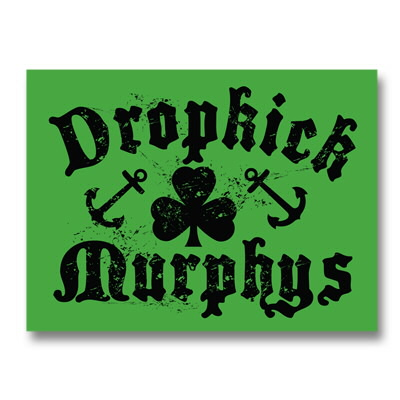 Shamrock And Anchors Sticker